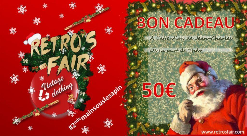 Carte cadeau Retro'sFair Noël
